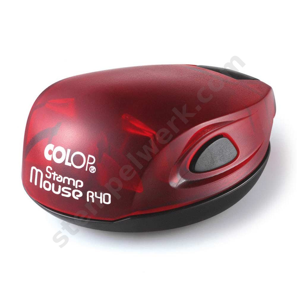 Colop Stamp Mouse 40 rund rot